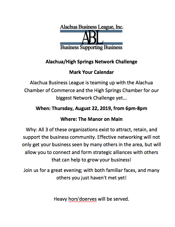 Alachua Chamber of Commerce Annual Banquet – UF Innovate