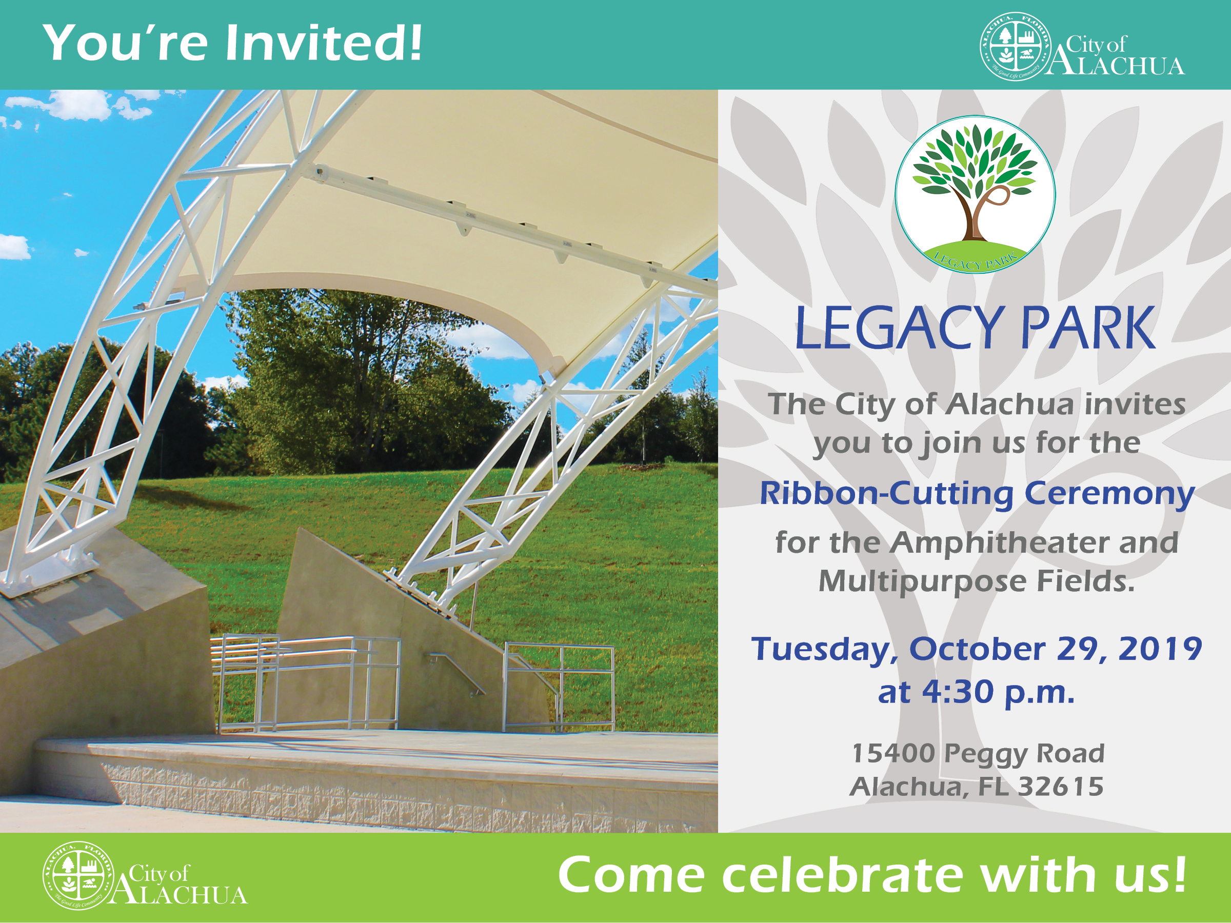 Legacy Park Amphitheater And Multipurpose Fields Ribbon Cutting Ceremony Uf Innovate