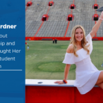 Savannah Gardner, an intern at UF Innovate enjoying her graduation at the Ben Hill Griffin Stadium
